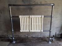 Victorian heated towel radiator