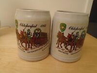 RARE GERMAN MILITARY BIER STEINS