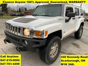 2006 HUMMER H3 4WD FINANCE 100% Approved Guaranteed