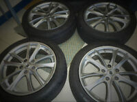 JDM 4 Alloy Rims(PIAA) And 4 Summer Tires (225-45-R18),(5X100)