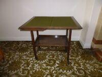 Retro 4 Place Poker Table & Vintage Tea Trolley
