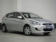 2012 Hyundai Accent RB Active Silver 4 Speed Automatic Hatchback Bentley Canning Area Preview