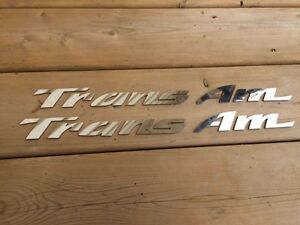 93-02 TRANS AM STAINLESS DOOR EMBLEMS