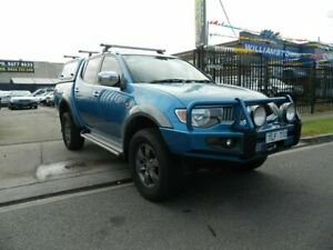 2008 Mitsubishi Triton ML MY08 GLX-R (4x4) Blue 4 Speed Automatic 4x4 Double Cab Utility Williamstown North Hobsons Bay Area Preview
