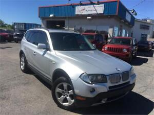 BMW X3 3,0i 2007 AWD/ CUIR/ MAGS/ AC/ TOIT PANORAMIQUE/ PROPRE !