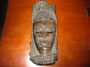 Antique African small  wood carved Mask
