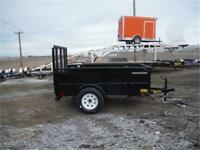 5 X 8 UTILITY TRAILER - SOLID SIDES - 2,995 LB. GVWR - TAX IN!!