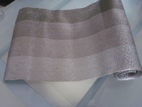Chilewich Woven Bronze/Silver Table Runner 6 Ft.
