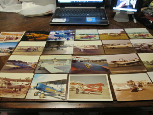 LOT OF 22 VINTAGE ORIGINAL AIR SHOW PICTURES AVIATION GREAT SHAPE AIRPLANES