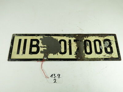 IIB Oberbayern Kennung Kennzeichen Nummernschild Motorrad Vorkrieg Oldtimer