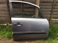 VAUXHALL ZAFIRA 2005-2012 SILVER FRONT DRIVERS SIDE DOOR