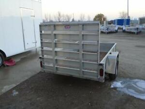 **USED** 5X8 ALUMINUM UTILITY TRAILER - SOLID SIDES, BIFOLD GATE London Ontario image 3