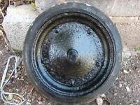 Vintage wheelbarrow wheel (solid tyre)