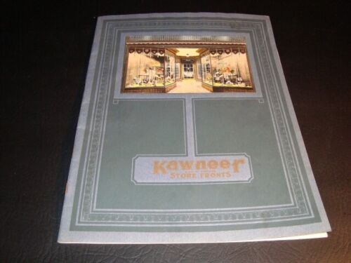 Circa 1920s Kawneer Solid Copper Store Fronts Catalog, Niles, Michigan