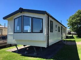 Preowned 2 bed static caravan at Lydstep Nr Tenby, Pembrokeshire with sea views