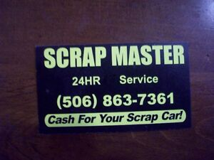 OPEN 24/7 Buying Scrap cars.Free Tow away.