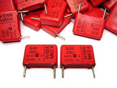 5pcs Wima .33uf 250v 10 Mks4 Quality Tube Amp Capacitors New