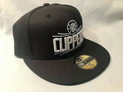 LOS ANGELES CLIPPERS NEW ERA 59FIFTY BLACK & WHITE CUSTOM FITTED CAP HAT NBA