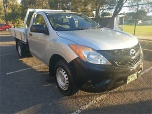 2012 Mazda BT-50 XT (4x2) Silver 6 Speed Manual Cab Chassis Granville Parramatta Area Preview