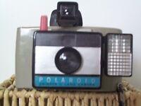 1960's Polaroid Swinger 11 Land Camera complete with flash unit