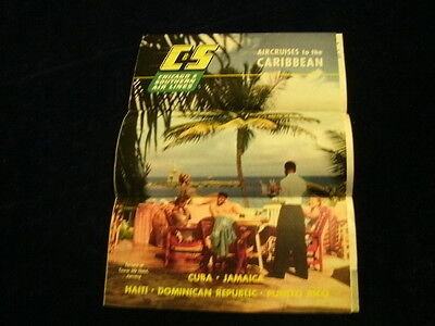 R2 1953 C S Chicago   Southern Airline Travel Caribbean Haiti Cuba    Brochure