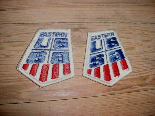 VINTAGE EMBROIDERED LOT OF [2] EASTERN USSA U.S. SKI ASSOCIATION PATCH SKIING