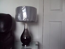 NEXT OMBRE GLASS LAMPS X 2 NEW *Now Sold Thanks*
