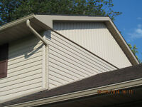 SIDING Seamless Eavestrough Fascia Soffit Capping Stone veneer