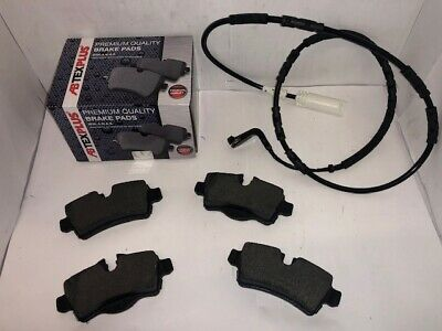 Rear Brake Pads + Sensor Wire Fits Mini R55 R56 R57 R58 R59 2006-2015.All Models