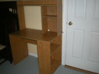 Small Computer Desk With Side Storage And Hutch Top
