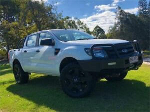 2013 Ford Ranger PX XL Double Cab White 6 Speed Sports Automatic Utility Burleigh Heads Gold Coast South Preview