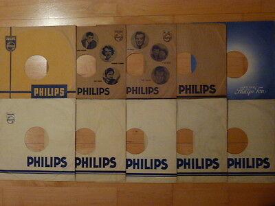 10 Hüllen COVER Schellack Schellackplatten PHILIPS ORIGINAL! 25cm Grammophon TOP