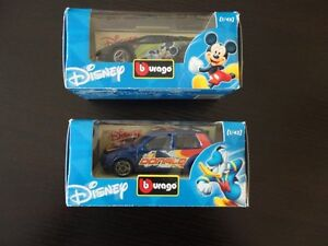 Set of 2 collectible Disney mattel cars Brand new in box
