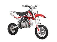 MOTOCROSS/DIRT BIKE RFZ 140cc GRANDE ROUE POUR ADO & ADULTE