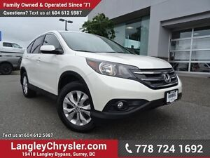 2013 Honda CR-V EX-L LOW KMS W/ LEATHER UPHOLSTERY & SUNROOF