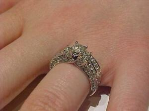 #1651 *JUST REDUCED $500.00  Vera Wang Love Collection 1.95 CT. T.W. Bridal Set in 14K W/G Size 6.5 Appraised FEDEX S/H