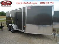 TWO TONE ALL SPORT NEO ALL ALUMINUM TRAILER W 3 RAMPS 7 X 18