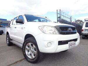 2010 Toyota Hilux KUN26R 09 Upgrade SR (4x4) White 4 Speed Automatic Pooraka Salisbury Area Preview