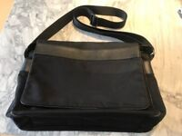 Armani man's cross body bag with leather trim and detailing- good condition.