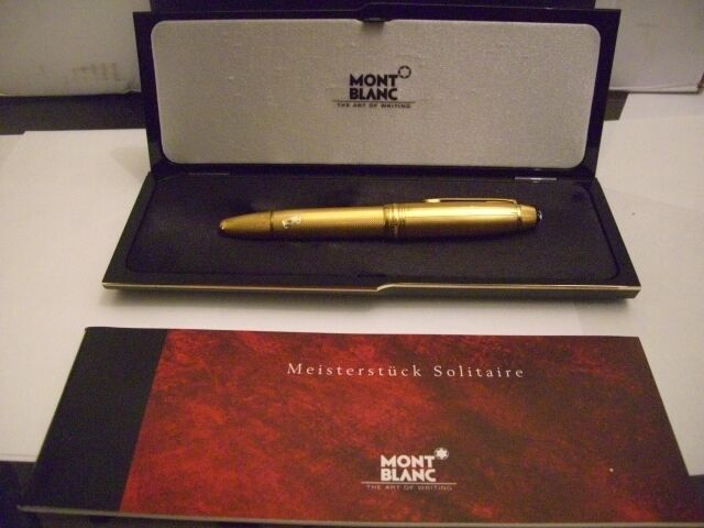 Montblanc Solitaire 146v  Vermeil Barley Legrand Fountain Pen Med Pt New In Box