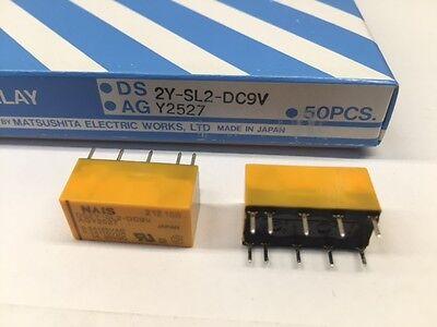 5 Pcs Ds2y-sl2-dc9v Nais 9vdc 2a Dpdt Signal Relay