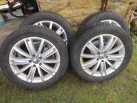 """4 x VW Tiguan """"New York"""" Alloy wheels + TYRES 18"""""""