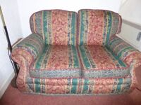 Double sofa & matching chair, VGC, commfortable, all original tags incl fire resistant.