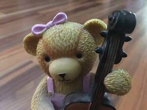 Ceramic bear model playing cello Hillcrest Port Adelaide Area Preview