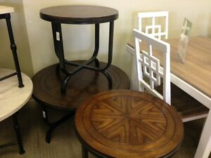 ASHLEY COFFE AND END TABLES $80.00 + TAX