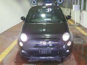 2013 FIAT 500 SPORT BLACK..SUNROOF,HTD SEATS,2 SETS OF RIMS