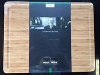 Michel Roux Jnr Bamboo Chopping Board with Routed Channel (40mm Thick) NEW