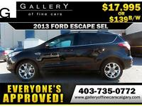 2013 Ford Escape SEL $139 Bi-Weekly APPLY NOW DRIVE NOW