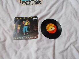 Vinyl 7in 45 Girlie Girlie / Girl Rush – Sophia George Winner WIN 01 1985