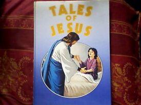 TALES OF JESUS - CHILDREN'S RELIGIOUS BOOK GENUINE VINTAGE 1986 EDITION